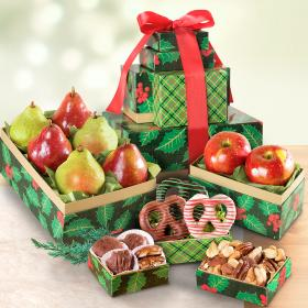 AT0233, Deck the Halls with Treats and Holly Fruit Tower - PRE-ORDER NOW