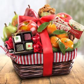 AA4050, Holiday Treasures Fruit and Gourmet Basket