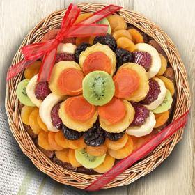 AA6053, Golden State Fruit Sweet Bloom Dried Fruit Deluxe Basket