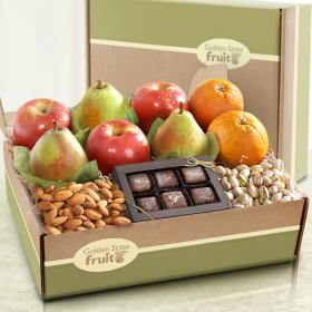 AB2005, Gracious Giver Deluxe Fruit and Gourmet Gift Box