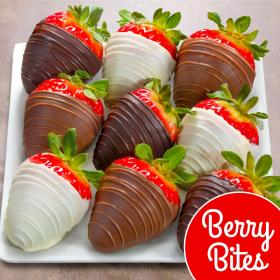 ACD3002, 9 Berry Bites Chocolate Covered Strawberries (Fun Size)