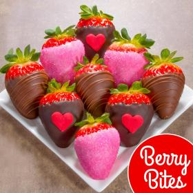 ACD3001, 9 Love Bites Chocolate Covered Strawberries (Fun Size)