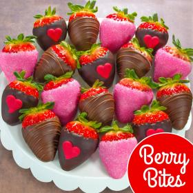 ACD4001, 18 Love Bites Chocolate Covered Strawberries (Fun Size)