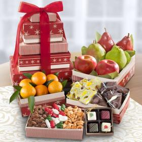AT0231, Christmas Caroling Fruit & Treat Tower - PRE-ORDER NOW