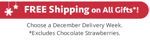 Free Holiday Season Shipping on All Gifts - Choose a December Delivery Week