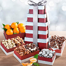 ATC0241, Layers of Wonder Fruit, Nuts and Chocolates Tower