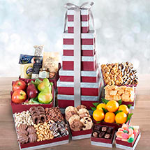 ATC0244, Layers of Greatness Gala Tower with Fresh Fruit