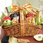AA4023B, Happy Birthday Fancy Feast Fruit Basket