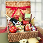 AA4046, Napa Valley Grande Sparkling Cider, Cheese and Fruit Basket Hamper