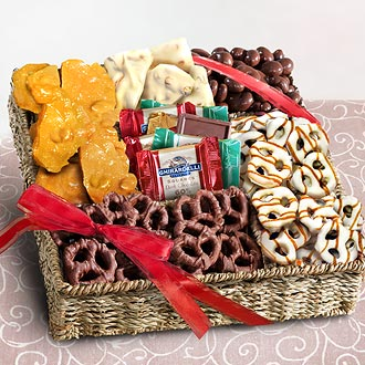 AA4055, Chocolate, Nuts and Crunch Gift Basket