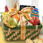 AA4062B, Happy Birthday Savory and Sweet Fruit Basket