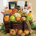 AA4067, Best of California Deluxe Artisanal Gourmet and Fruit Basket