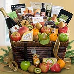 AA4068, Best of California Motherlode Artisanal Gourmet and Fruit & Cider Basket