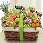 AA4081, Paradise Tropical Fruit, Nuts and Cheese Basket