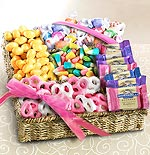 AA4085,  Spring Sweet Treats and Chocolate Gift Basket