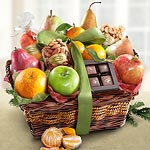 AA4094, Happy Holidays Orchard Delight Fruit and Gourmet Basket