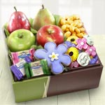 AB1025, Spring Bouquet of Sweets and Fruit Gift Box
