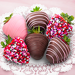 ACD1001, Love Berries Chocolate Covered Strawberries - 6 Berries