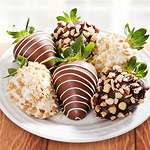 ACD1004, Nuts About Chocolate Covered Strawberries - 6 Berries