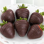 ACD1009, Dreamy Dark Chocolate Covered Strawberries - 6 Berries