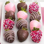 ACD2001, Love Berries Chocolate Covered Strawberries - 12 Berries