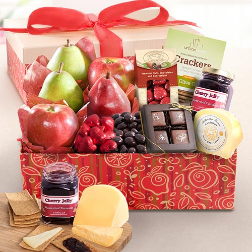 Fruit And Chocolate Gift Boxes : Be my valentine deluxe fruit chocolate and gourmet gift