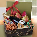 AG2101, Sonoma Deluxe Fruit and Sparkling Cider Gift Box