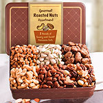 Two Pound Roasted Nuts Assortment in Keepsake Tin
