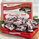 CYT002, Premium Marbelized Dark and White Chocolate Peppermint Bark in Gift Tin