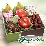 Organic Spring Bouquet of Sweets and Fruit Gift Box