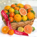 Thank You Sweet Sunshine Citrus Fruit Gift Basket
