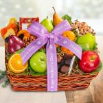 Happy Mothers Day Orchard Delight Fruit and Gourmet Basket