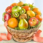 Orchard Fresh Fruit Basket in Keepsake Woven Bowl