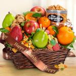 Father's Day Fruit and Snacks Gift Basket