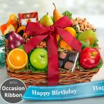 Happy Birthday Orchard Delight Fruit and Gourmet Basket