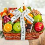 Happy Holidays Orchard Delight Fruit and Gourmet Basket