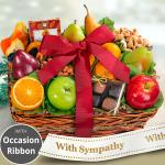 Sympathy Orchard Delight Fruit and Gourmet Basket