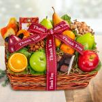 Thank You Orchard Delight Fruit and Gourmet Basket
