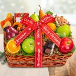 Merry Christmas Orchard Delight Fruit and Gourmet Basket