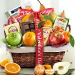 Happy Valentines Day Deluxe Fruit Basket