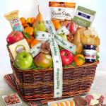 Happy Holidays Abundance Classic Fruit Basket