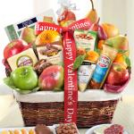 Happy Valentines Day Abundance Classic Fruit Basket