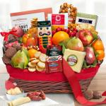 Holiday Tidings Deluxe Gourmet Gift Basket