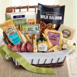Gourmet Cheese & Meats Hamper Gift Basket