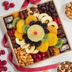 Festive Dried Fruit, Nuts and Sweets Tray