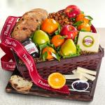 Thank You Fresh Fruit, Cheese & Bread Gift Basket
