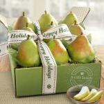 Happy Holidays Dessert Pears Deluxe Fruit Gift