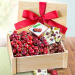 Fresh Cherries and Gourmet Chocolate Crate