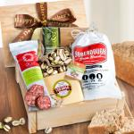 Meat and Cheese Crate for Dad with Fathers Day Ribbon