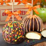 Fall for Chocolate Covered Caramel Apples Pair in a Wooden Gift Crate